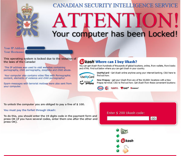 Computer Locked By Canadian Security Intelligence Service