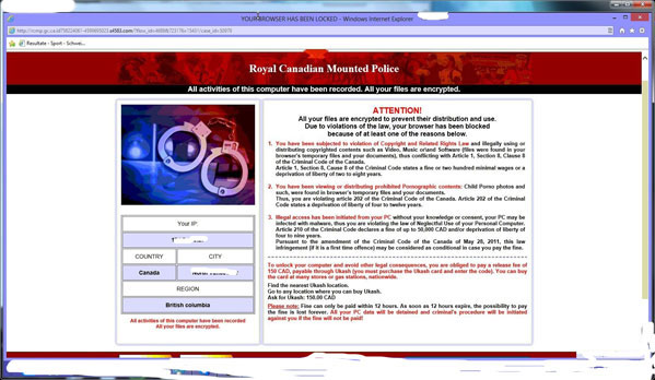 RCMP-Virus-browser-lock-$150-CAD