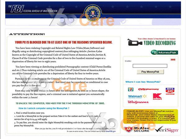 Fbi virus scam locked computer screen remove fbi moneypak virus from