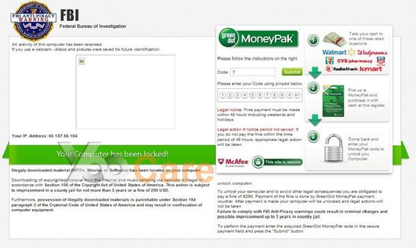 FBI Virus Scam Locked Screen? Remove FBI Moneypak Virus From