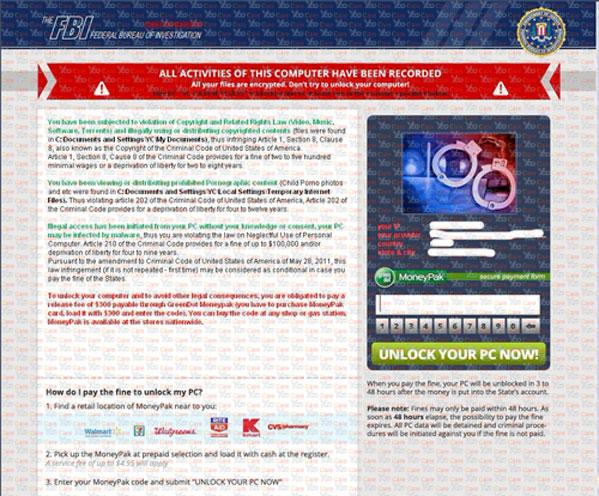 New-Version-of-FBI-MonePak-Virus-(FBI-Virus-Scam)