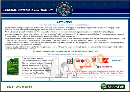 fbi moneypak malware warning how to get the fbi virus