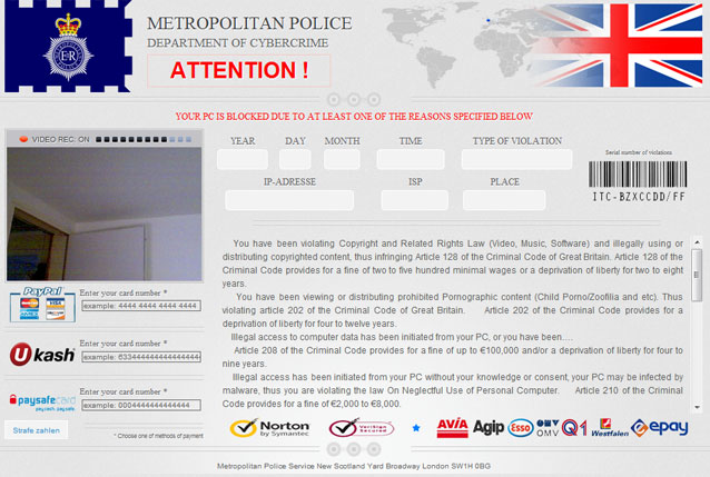 Getting Rid Of London Metropolitan Police Ukash Virus? Removal Tips