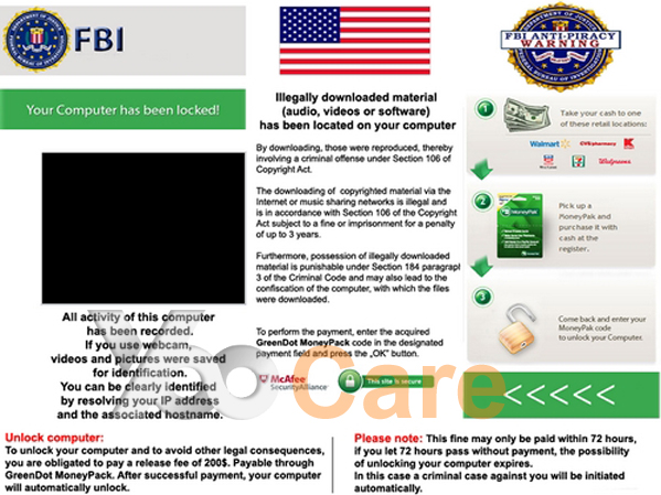 Remove FBI Anti-Piracy Warning Virus On PC/Android Phone ...