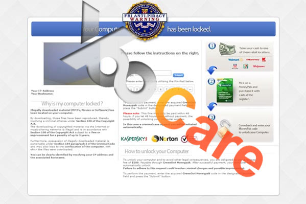 FBI Anti-Piracy Warning Virus