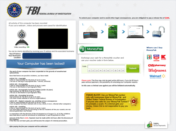 "Reveton Ransomware Variants ""Fine"" The World Asking Fees to Unlock ..."