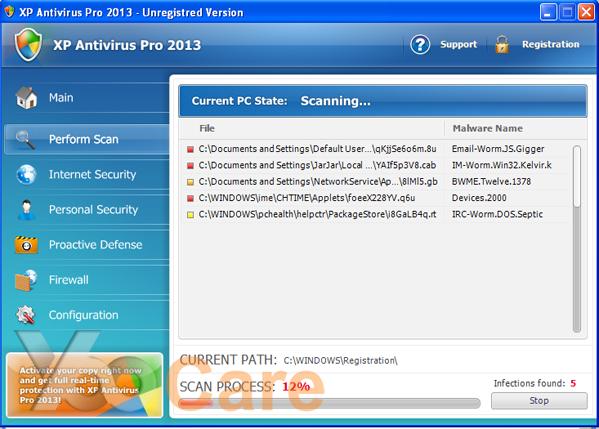 white screen virus manual removal