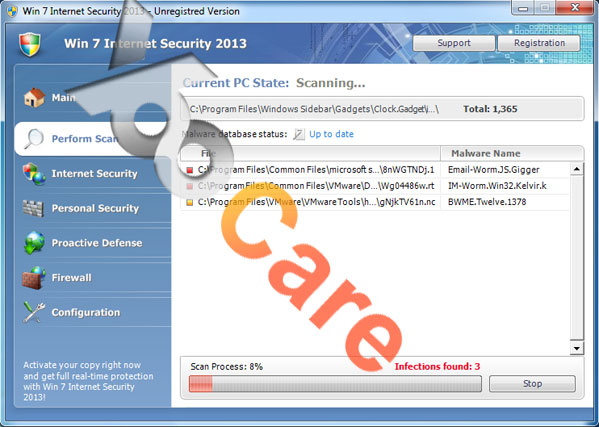 Win 7 Internet Security 2013 Virus