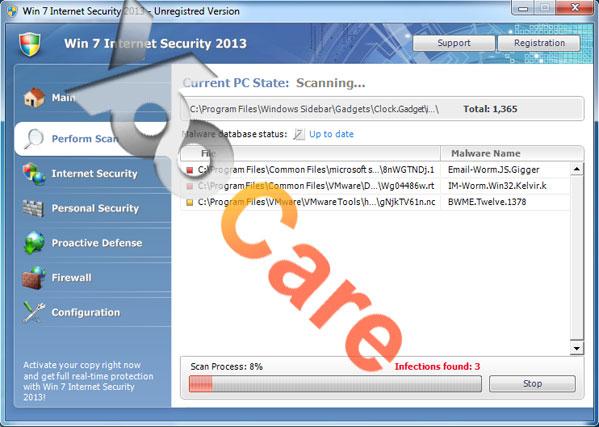 Win 7 Internet Security 2013 Virus