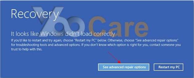 windows 8 advanced repair options