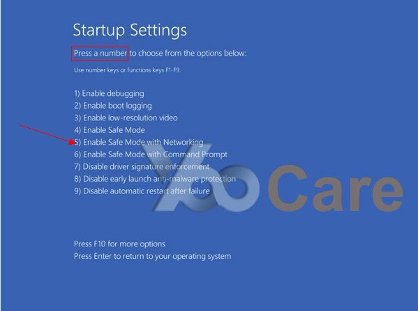 how to start computer in safe mode windows 10