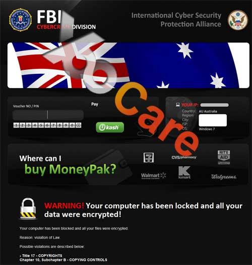 Australia FBI CyberCrime Division ICSPA Virus Scam