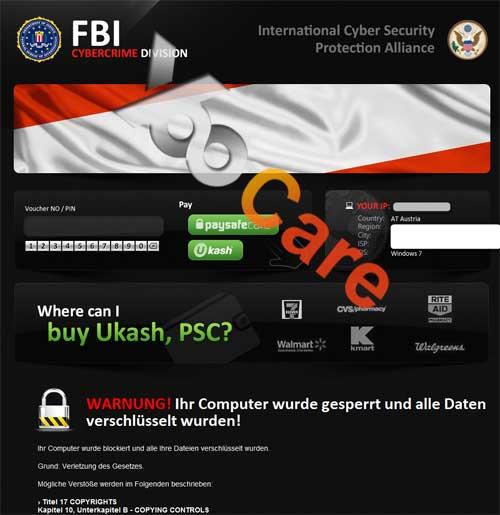 Austria FBI CyberCrime Division ICSPA Virus Scam