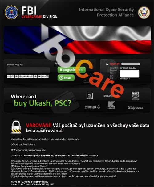 Czech-Republic FBI CyberCrime Division ICSPA Virus Scam