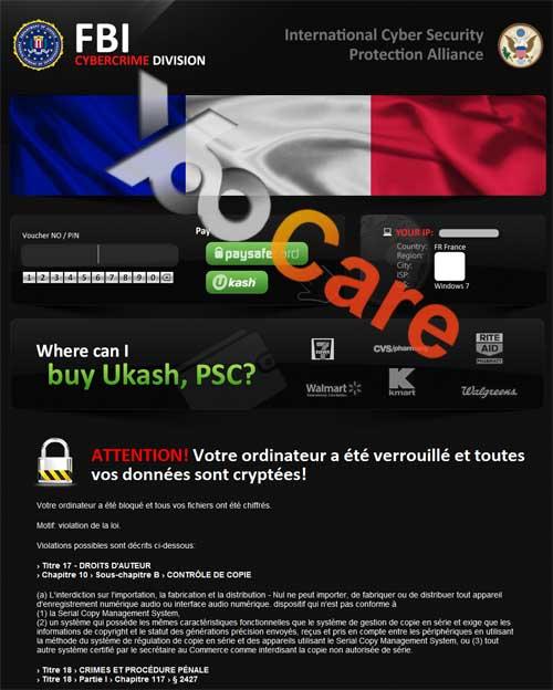 France FBI CyberCrime Division ICSPA Virus Scam