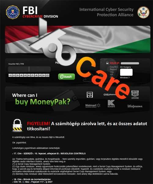 Hungary FBI CyberCrime Division ICSPA Virus Scam