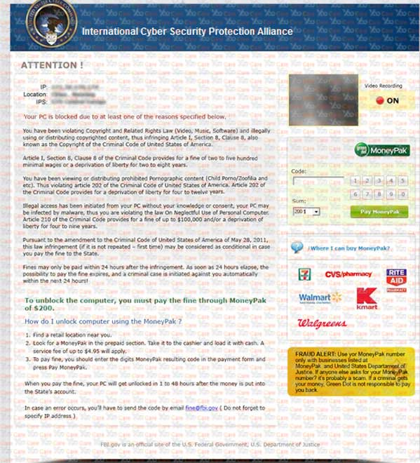 how to get rid of police warning virus