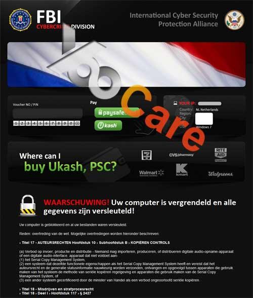 Netherlands FBI CyberCrime Division ICSPA Virus Scam