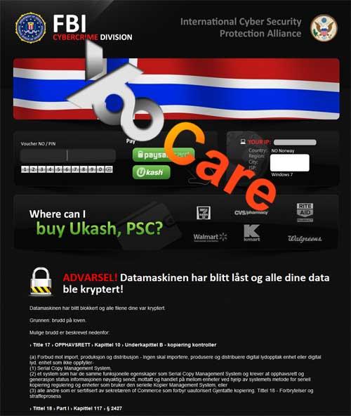 Norway FBI CyberCrime Division ICSPA Virus Scam