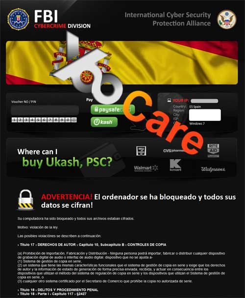 Spain FBI CyberCrime Division ICSPA Virus Scam