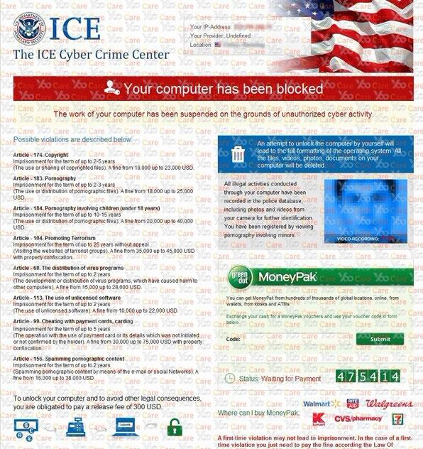 The-ICE-Cyber-Crime-Center-Virus-$300-Moneypak-Scam