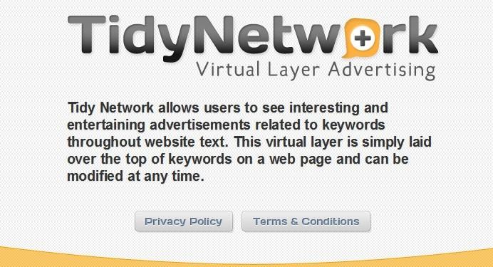 Remove Tidynetwork.com Redirect (Clean Tidynetwork.com