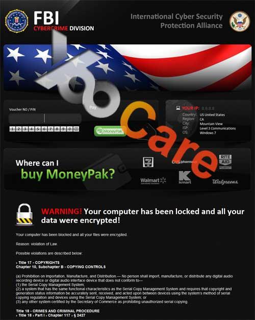United States FBI CyberCrime Division ICSPA Virus Scam