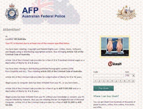 AFP Ukash Virus-2012.10