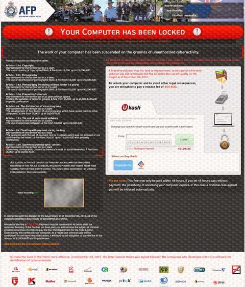 AFP Ukash Virus-2012.12