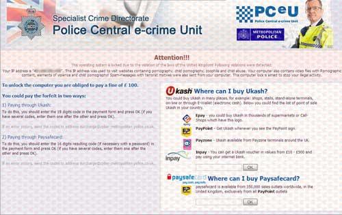 PCeU Virus Ukash Scam-2012.06-08