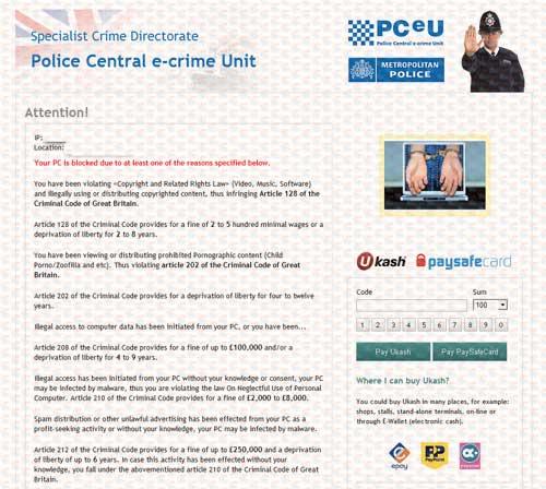 PCeU Virus Ukash Scam-2012.09-A