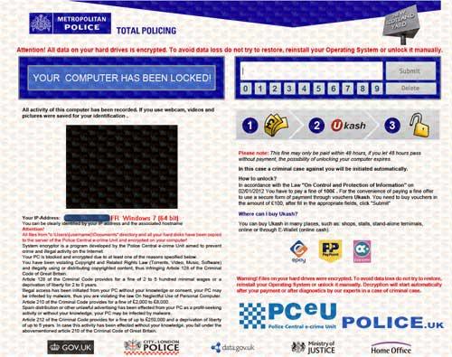 PCeU Virus Ukash Scam-2013.01-A