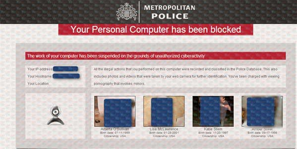 Metropolitan Police - Your Personal Computer has been blocked A