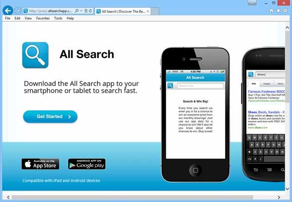 Proxy.allsearchapp.com redirect