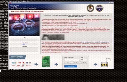 FBI Moneypak virus
