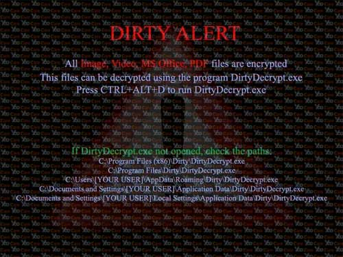 Dirty-Decrypt- virus A