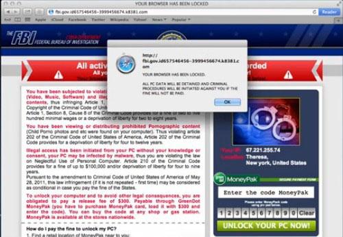 FBI Your Browser Has Been Locked Virus On Macbook? Unlock