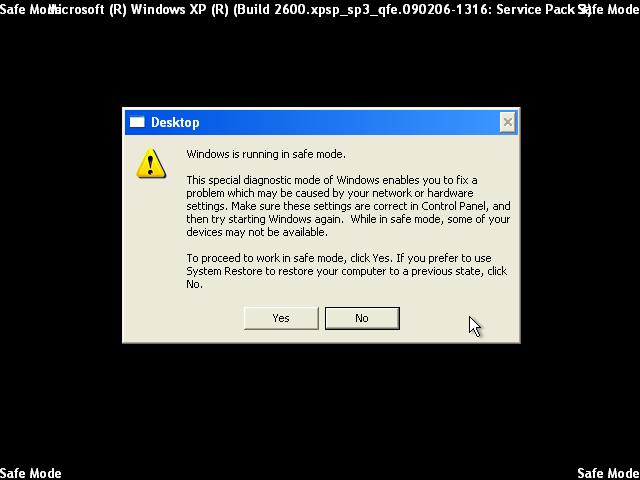 Windows XP Pro / безопасный режим (Safe Mode) .