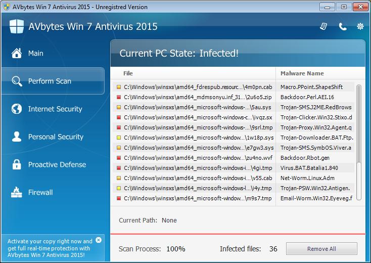AVbytes Win 7 Antivirus 2015