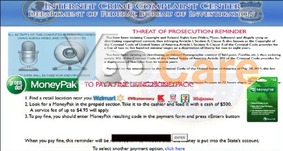 FBI-Virus-Pay-500-Fine-Through-Moneypak