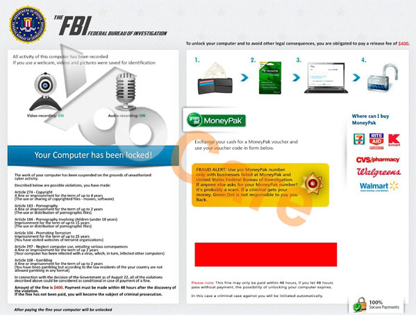 Remove Fake FBI Moneypak Scam Without Paying Fine 2019