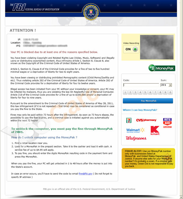 FBI-moneypak-virus-asks-for-200-to-unlock-your-computer