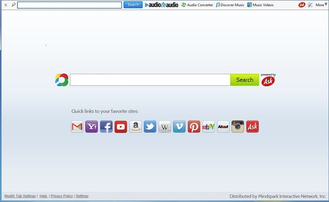 Audio to Audio Toolbar Home.tb.ask.com
