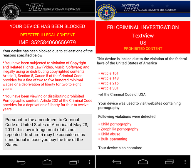Unlock Android Phone from FBI Investigation Virus