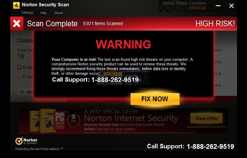 Fake Norton Security Scan Warning