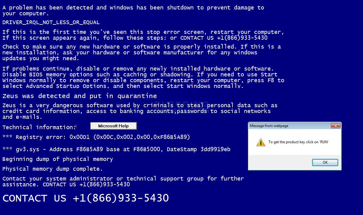 """How to Remove 1-866-933-5430 Popup Saying """"windows has been shut down to prevent damage to your"""