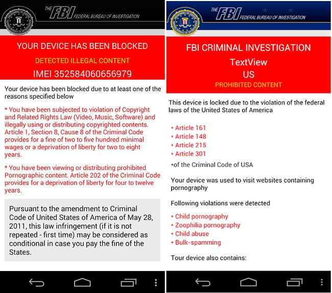 Remove Fbi Criminal Investigation Textview Virus On