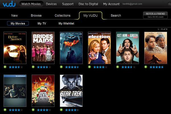 Vudu is an online streaming movie service that bears more resemblance to iTunes than Netflix or Hulu Plus. Rather than stream movies based on a monthly subscription, you are able to rent individual titles in either standard definition or high definition.