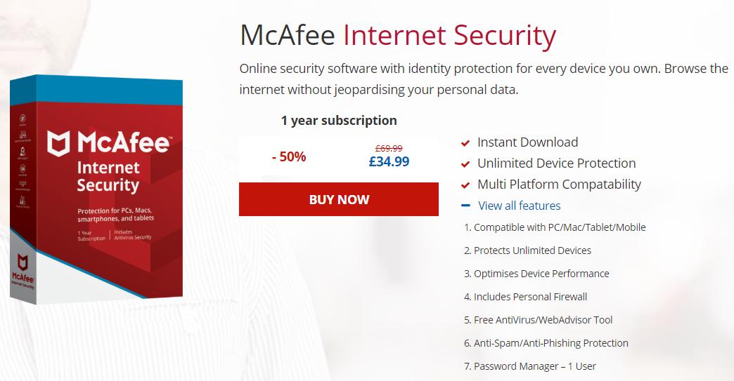 UK McAfee Coupon Code: Get 50% OFF Discount 2018 ...