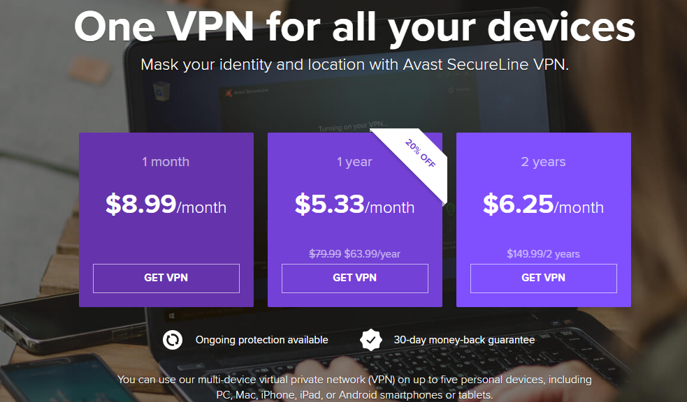 avast ultimate multi yearly subscription